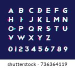 alphabet with numbers and... | Shutterstock .eps vector #736364119