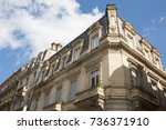 facade of a traditional... | Shutterstock . vector #736371910