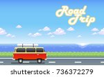illustration car on the road... | Shutterstock .eps vector #736372279