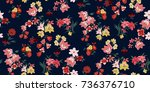 seamless floral pattern in... | Shutterstock .eps vector #736376710