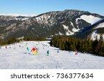 jasna  slovakia   january 22  ...   Shutterstock . vector #736377634