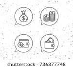 speech bubbles with signs.... | Shutterstock .eps vector #736377748