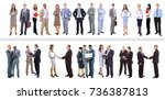 set of business people isolated ... | Shutterstock . vector #736387813