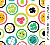abstract colorful slice of... | Shutterstock .eps vector #736389358