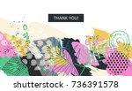 abstract universall header.... | Shutterstock .eps vector #736391578