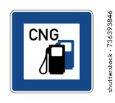 petrol station with cng  german ... | Shutterstock .eps vector #736393846