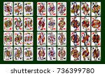 playing cards  classical style... | Shutterstock .eps vector #736399780