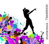 silhouette of dancing girl on...
