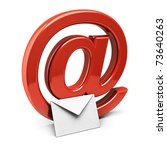 Three Dimension Sign Of E Mail