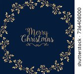 christmas background with... | Shutterstock .eps vector #736408000