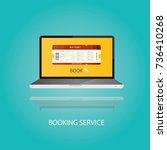 modern illustration of vacation ...   Shutterstock . vector #736410268
