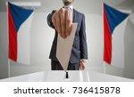 election or referendum in czech ... | Shutterstock . vector #736415878