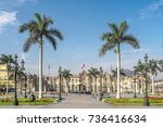 the government palace of peru... | Shutterstock . vector #736416634