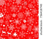 christmas seamless pattern of... | Shutterstock .eps vector #736418740