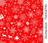 christmas seamless pattern of... | Shutterstock .eps vector #736418740