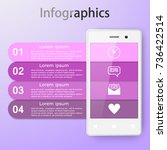 infographics with a smartphone. ... | Shutterstock .eps vector #736422514
