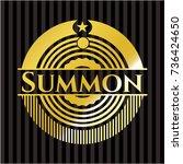 summon shiny emblem | Shutterstock .eps vector #736424650