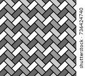 herringbone pattern. rectangles ... | Shutterstock .eps vector #736424740