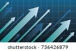 financial arrow graph   Shutterstock .eps vector #736426879