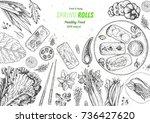 asian food menu design template.... | Shutterstock .eps vector #736427620