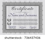 grey awesome certificate... | Shutterstock .eps vector #736437436