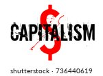 capitalism sticker. authentic... | Shutterstock .eps vector #736440619
