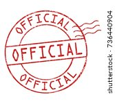 official grunge rubber stamp on ... | Shutterstock .eps vector #736440904