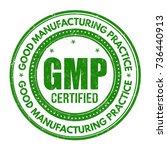 good manufacturing practice  ... | Shutterstock .eps vector #736440913
