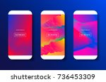 screens vibrant gradient... | Shutterstock .eps vector #736453309