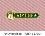 golden badge with 4kg... | Shutterstock .eps vector #736461700