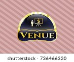 gold badge or emblem with...   Shutterstock .eps vector #736466320