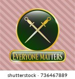 gold emblem or badge with...   Shutterstock .eps vector #736467889