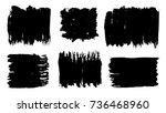 grunge stains set. ink splatter ... | Shutterstock .eps vector #736468960