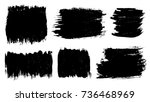 grunge paint stains set. ink... | Shutterstock .eps vector #736468969