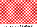 red gingham pattern. texture... | Shutterstock .eps vector #736476436