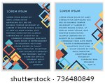 bright vector template with... | Shutterstock .eps vector #736480849