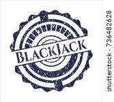 blue blackjack distressed... | Shutterstock .eps vector #736482628