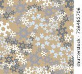 seamless pattern. snowflakes... | Shutterstock .eps vector #736482706