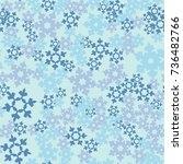 seamless pattern. snowflakes... | Shutterstock .eps vector #736482766