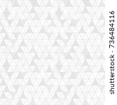 seamless grey color triangle... | Shutterstock .eps vector #736484116