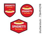 spaghetti logo vector set.... | Shutterstock .eps vector #736494298