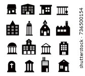 buildings  icons set on white... | Shutterstock . vector #736500154