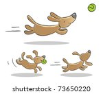 Stock vector cute dog playing illustrations animated 73650220