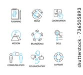 modern flat thin line icon set... | Shutterstock .eps vector #736505893