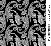 embroidery baroque vector... | Shutterstock .eps vector #736513420