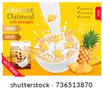 instant oatmeal with berry... | Shutterstock .eps vector #736513870