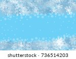 snowflake on winter gray sky... | Shutterstock . vector #736514203