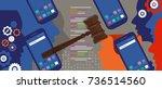 information technology internet ... | Shutterstock .eps vector #736514560