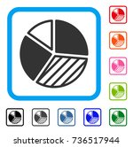 pie chart icon. flat gray...