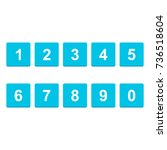 number set icon  isolated vector | Shutterstock .eps vector #736518604